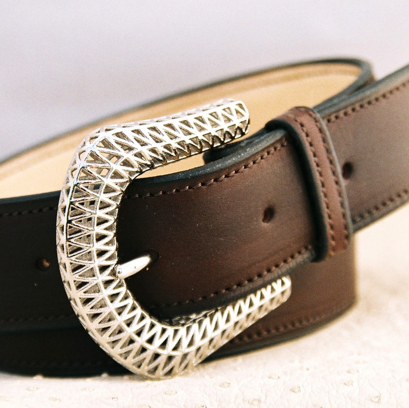 Havana Novo Nappa calfskin belt, with mucem buckle 35mm
