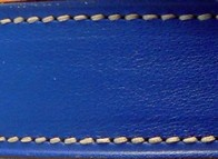 Royal blue calfskin