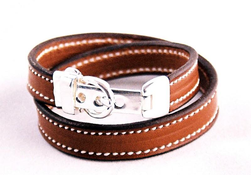 f0bc36285af Bracelet argent double tour Vignette2