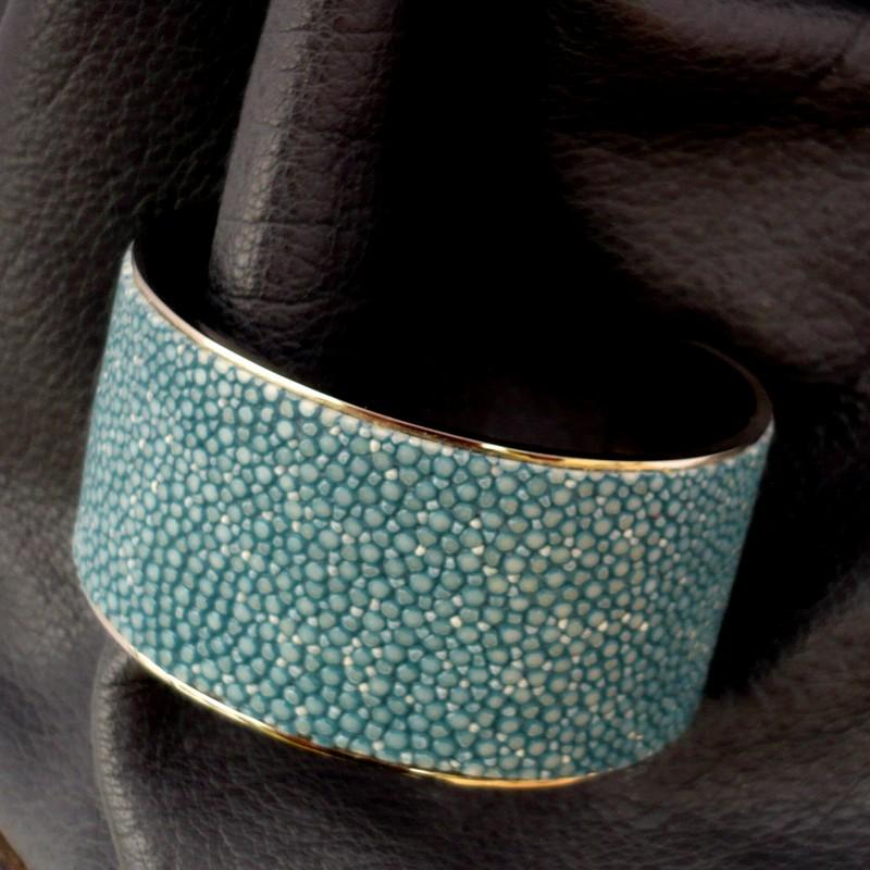 Bracelet large galuchat