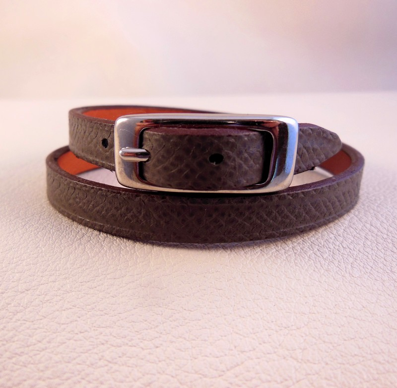 Bracelet slim, gris anthracite