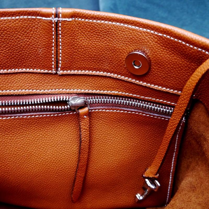 Intérieur du sac seau, veau gold